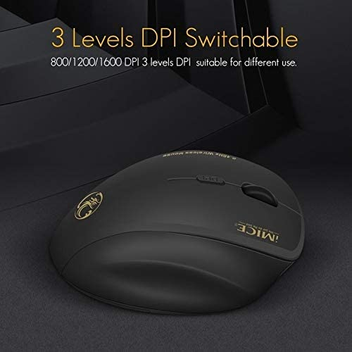 Color : Red Computer Accessories G6 Wireless Mouse 2.4G Office Mouse 6-Button Gaming Mouse Black