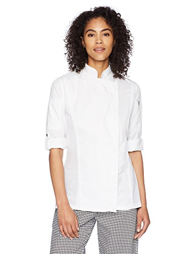 Chef Works Women's Hartford Chef Coat, White, Medium by Chef Works