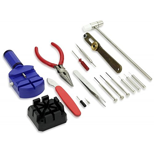 conjunto serie 16 piezas de reparación de relojes y pequeño electrodoméstico