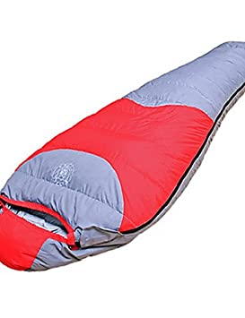Saco de dormir momia bolsa única -15? Pato abajo 1500 G 220 x 80 Camping Langya para mantener caliente, azul: Amazon.es: Deportes y aire libre