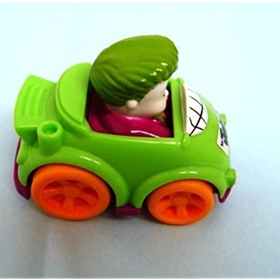 Dubblebla Fisher Price Little People Wheelies Joker Replacement Car for Race and Chase Batcave: Toys & Games