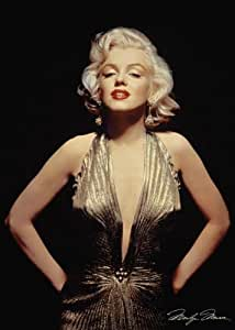 Marilyn Monroe-Gold Dress, Movie Poster Print, 24 by 36-Inch