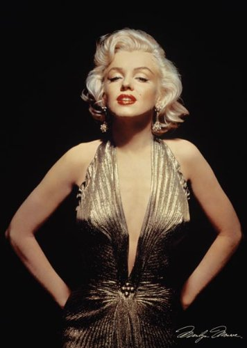 Marilyn Monroe-Gold Dress, Movie Poster Print