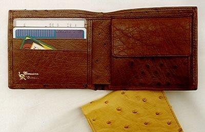 020bf912f0 Portafoglio da uomo in vera pelle di struzzo, - 11,5 x 9,5 cm ...