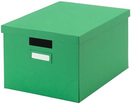 27 x 35 x 20 cm A4 TJENA tamaño hogar/oficina verde caja de almacenaje con tapa (para papeles, fotos o otros recuerdos): Amazon.es: Bricolaje y herramientas