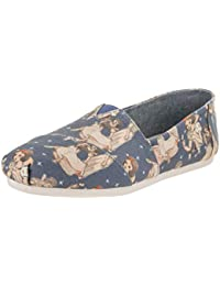 Women's Blue Snow White Print Canvas 10012729