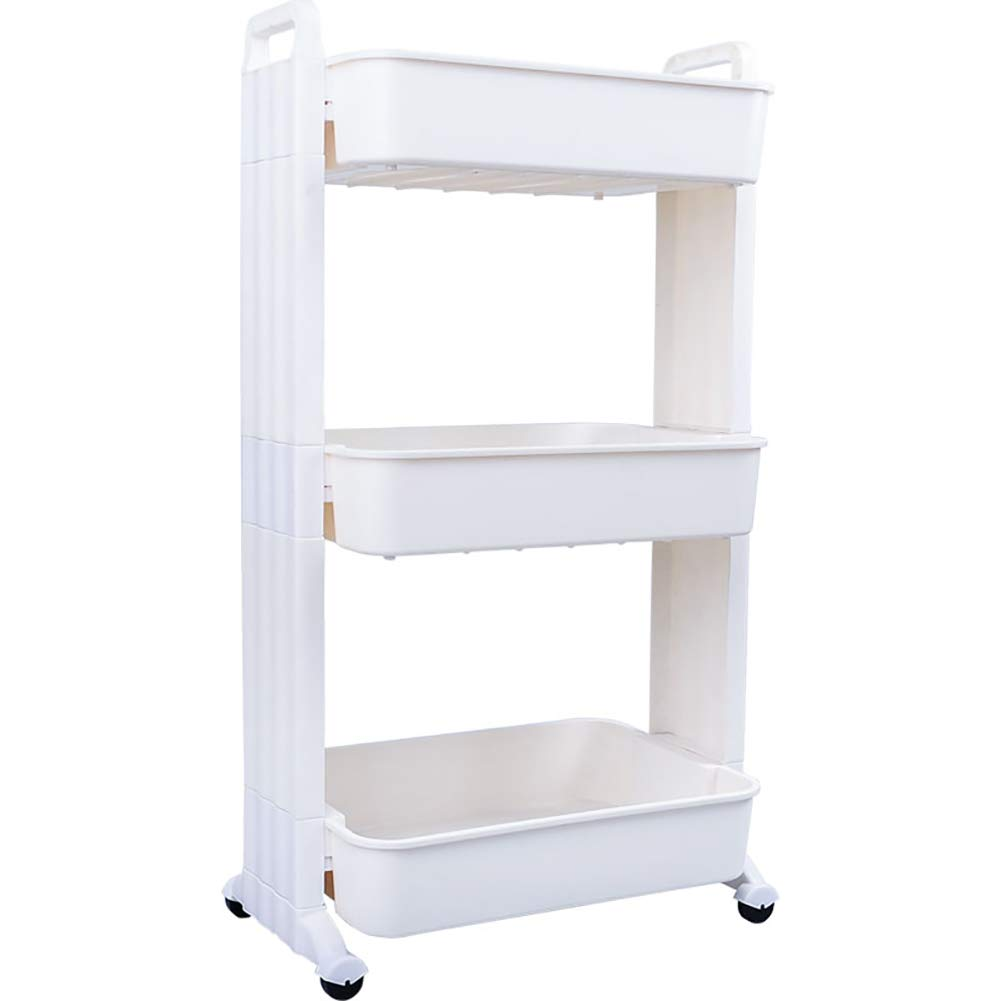 Kitchen Cart Plastic Multi-Layer, Storage Rack with Wheel Cart for Living Room Bathroom, Kitchen Household Items for Various Things