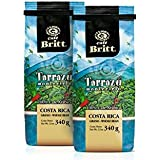 Cafe Britt Tarrazu Montecielo Whole Bean Coffee, 12-Ounce Bags (Pack of 2)