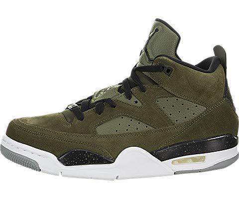 Nike Men's Jordan Son of Low Olive Canvas/Black White Basketball Shoe (9.5 M US) (Men Air Jordan V)