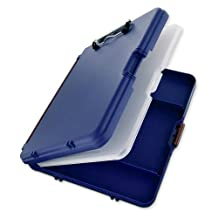 Saunders Work Mate II Plastic Storage Clipboard, Letter Size 8.5 x 12-Inch, Blue with Maroon Hinges (00475)