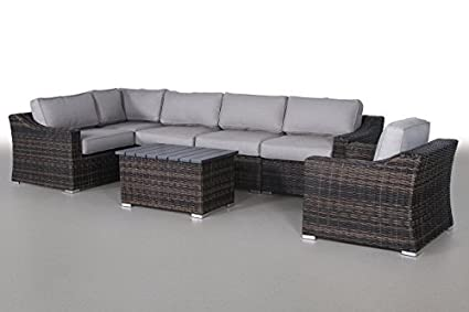 Century Modern Outdoor Marina Collection Patio Furniture Sofa Garden,  Sectional Furniture Set Resort Grade Furniture. No Assembly Required  [CM-5909] ...