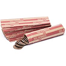 Penny Flat Striped Coin Wrappers, Bundle of 100