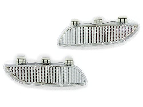 - Clear Bumper Side Marker Reflectors by DEPO Fit for 2008-2013 BMW 3 Series E90/E92/E93