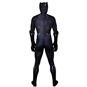 - 41bJm fxOJL - Joyfunny Panther Muscle Chest Battle Suit Costume 3D Black Jumpsuit