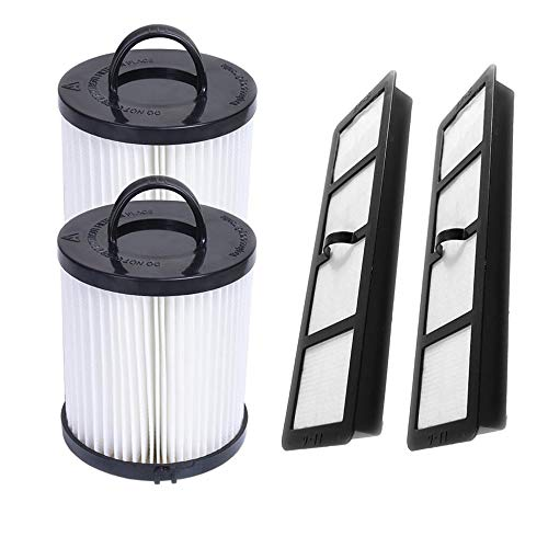 SaferCCTV Replacement EF6 HEPA Exhaust Filter and Vacuum Dust Cup Filter DCF-21 Replaces Part # 67821, 68931, 68931A, EF91 for Eureka Airspeed AS1000 Series Upright Vacuum Cleaners (2 Set)