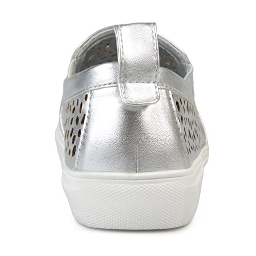 Sneakers Silver Brinley Womens Faux Laser Co Pull Leather On Cut 6p68Sqx