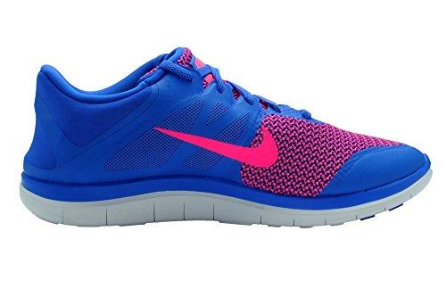 Nike Womens Free 4.0 V4 Scarpe Da Corsa Blu / Rosa / Bianco