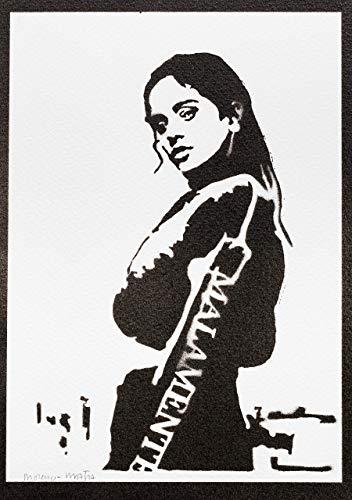 Poster Rosalía Grafiti Hecho a Mano - Handmade Street Art ...
