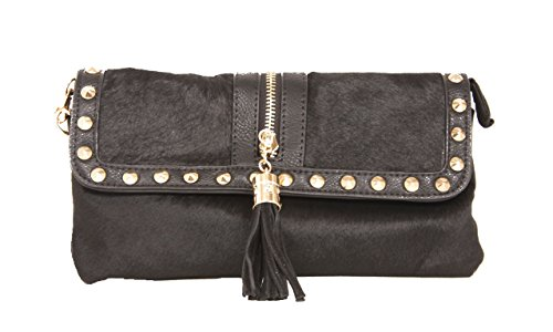 sondra-roberts-faux-hair-calf-leather-enveloap-clutch-evening-bag-with-removable-crossbody-chain-in-