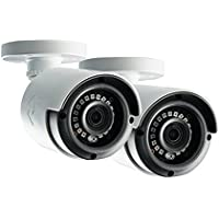 Lorex LAB243B 4MP 2K HD Analog Bullet Security Camera 2-Pack