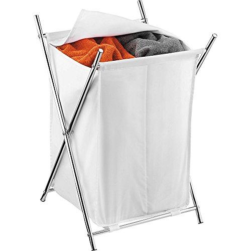 honey-can-do-chrome-2-compartment-folding-hamper-w-cover-white