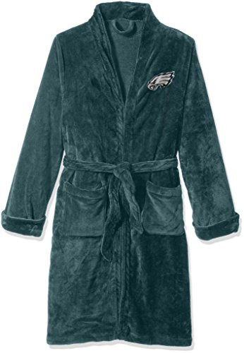 The Northwest Company Officially Licensed NFL Philadelphia Eagles Men's Silk Touch Lounge Robe, Large/X-Large