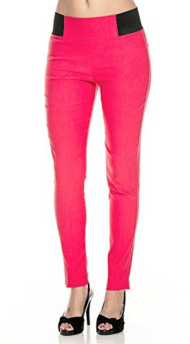 Women's Basic Stretch Fit Skiny Pants Ponte Leggings 41bJnqJ  2BUL