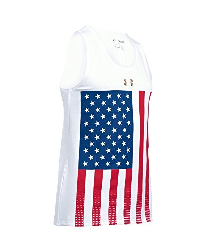 Under Armour Girls' UA USA Pride Tank X-Large / 18-20 Big Kids White