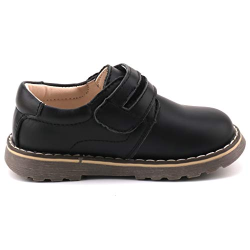 Femizee Toddler Boys Leather Loafers Comfort Uniform Oxford Dress Wedding Shoes, Black, 1327 CN25 by Femizee (Image #5)