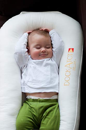 DockATot Deluxe+ Dock (Pristine White) - The All in One Baby Lounger - Perfect for Co Sleeping - Suitable from 0-8 Months (Pristine White) by DockATot (Image #6)