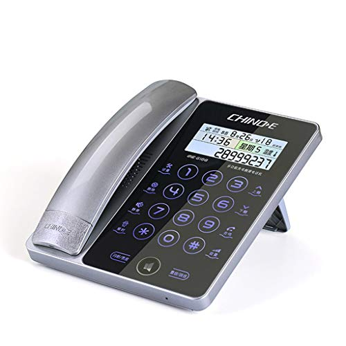 Telephone, Home Office Bedroom Front Desk Landline - Hands-Free Radio, Smart Touch Screen Landline Caller ID Night Button (Color : Silver) from Retro phone