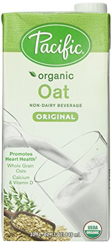 Pacific Foods Organic Oat Non-Dairy Beverage, Original, Low Fat, 32-Ounce