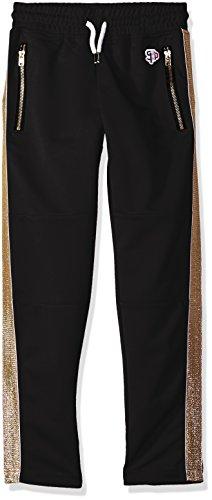 Southpole Boys' Big Athletic Track Pants Open Bottom, Black/Gold Large - Pant Bottoms Track Pants