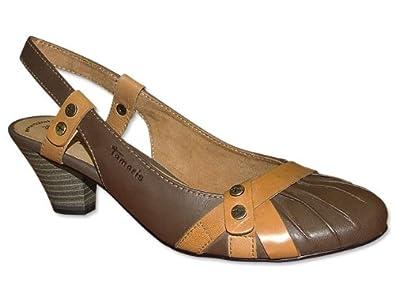 lowest price 9830a 466f5 Tamaris Slingpumps in Braun / Hellbraun - Slingpumps - beige ...