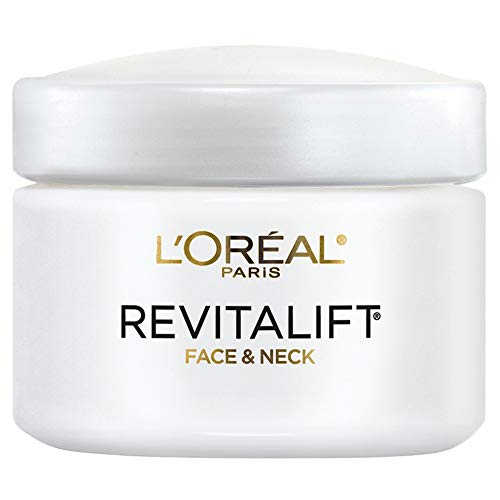 Face & Neck Moisturizer by L'Oréal Paris Skin Care, Revitalift Anti-Aging Day Cream with Pro-Retinol, Paraben Free, Suitable for Sensitive Skin, 2.55 oz.