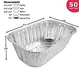 Handi-Foil 1 lb. Aluminum Foil Mini-Loaf/Bread Pan - Disposable Tins (pack of 50)