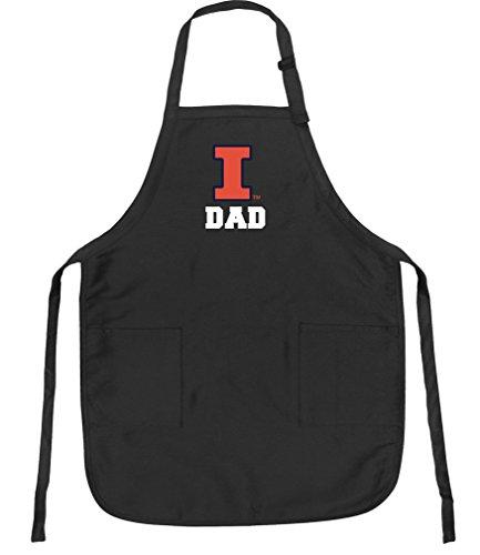 Broad Bay University of Illinois Dad Aprons Illini Dad w/Pockets Grilling Gift Him Men