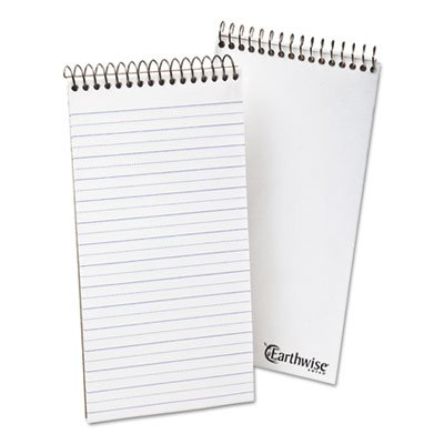 Earthwise by Ampad Recycled Reporter's Notebook, Pitman Rule, 4 x 8, 70 Sheets