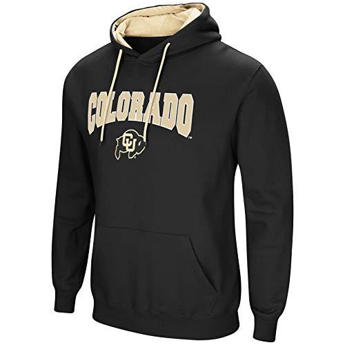 - Colosseum NCAA Men's-Cold Streak-Hoody Pullover Sweatshirt with Tackle Twill-Colorado Buffaloes-Black-XL