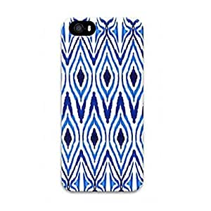ZXC Blue Lines Pattern Design Plastic Hard Case for iPhone 5/5S