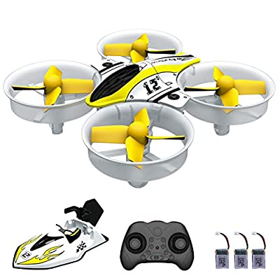 AIRJUGAR Mini Drone Nano Quadcopter 2.4ghz 6 Axis Gyro Drones for Kids and Beginners, Pocket Helicopter with Altitude Hold, Headless Mode, One Key Return, 3D Flips with 3 Batteries