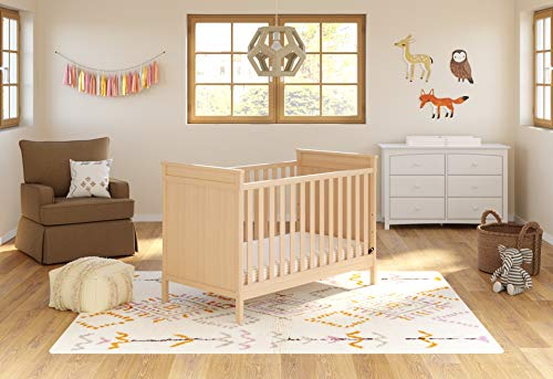 Storkcraft Eastwood 3-in-1 Convertible Crib Easily Converts to Toddler Bed Day Bed, 3-Position Adjustable Height Mattress