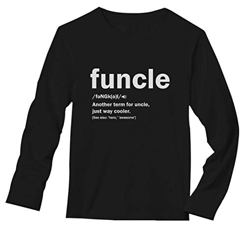 2dd388416 TeeStars - Funny Uncle Funcle Definition Gift for Uncles Long Sleeve T-Shirt  X-