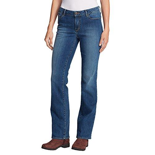 Eddie Bauer Women's StayShape Boot Cut Jeans - Slightly Curvy, Indigo Blue Regul by Eddie Bauer