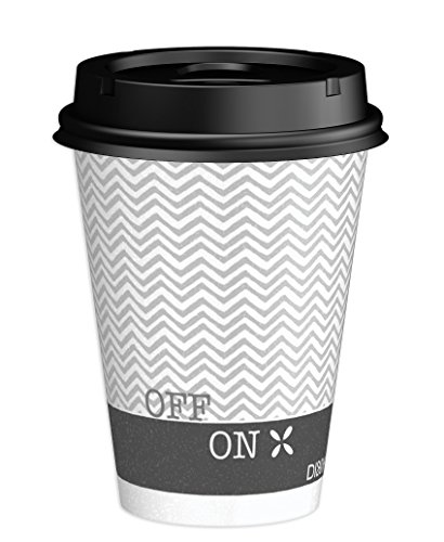 Dixie To Go Hot Beverage Cups & Lids, 12 Oz, 156 count, Assorted Designs, 6 Packs of 26 Count, Disposable Paper Coffee Cups & Lids by Dixie (Image #7)