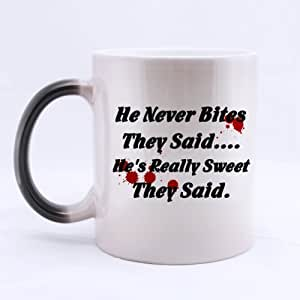 Best Veterinarian Mug - Pretty Clean Look He Never Bites They said. He's Really Sweet They said Morphing Coffee Mug or Tea Cup - 11 ounces