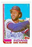 Bake McBride autographed baseball card (Cleveland Indians) 1982 Topps Traded #69T pen - Autographed Baseball Cards