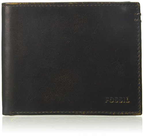 Fossil Mens Leather Bifold Black product image