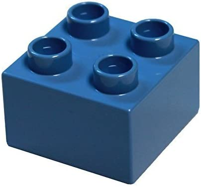 LEGO Parts and Pieces: DUPLO Medium Blue 2x2 Brick x20