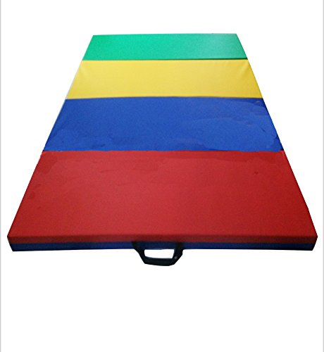 LYMI 4'x8'x2'' Folding Gymnastics Gym Thick Exercise Mats Colorful Stretching Yoga Mat by LYMI